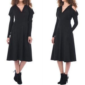 Eshakti Cold Shoulder Midi Dress